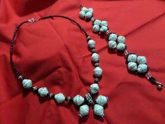 Paper bead necklace & bracelet