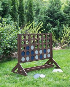 Best DIY Backyard Games - DIY Backyard Game Four In A Row - Cool DIY Yard Game Ideas for Adults, Teens and Kids - Easy Tutorials for Cornhole, Washers, Jenga, Tic Tac Toe and Horseshoes - Cool Projects for Outdoor Parties and Summer Family Fun Outside Outdoor Wedding Games, Diy Outdoor Weddings, Outdoor Fun, Outdoor Decor, Outdoor Toys, Wedding Yard Games, Outdoor Parties, Outdoor Games For Adults, Outdoor Activities