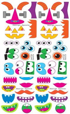small monster printables