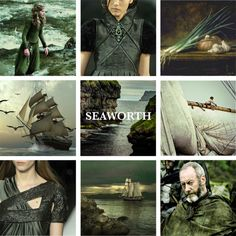 House Seaworth lords of Cape Wrath, Sworn to Baratheon of Dragonstone. House Seaworth is a young noble house from the Stormlands, They blazon of their arms with a black ship on a pale grey background, with an onion on its sails. Although their keep is in the Stormlands, they are sworn not to House Baratheon of Storm's End but to House Baratheon of Dragonstone in the Crownlands and to King Stannis.