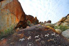Running Antelope Petroglyphs, Grapevine Canyon, Nevada  near laughlin nevada.... A short hike led to a lot of petroglyphs.