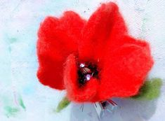Poppy Brooches, Wild Poppies, Hat Hairstyles, Flower Brooch, Etsy Vintage, Beautiful Flowers, Seeds, Recycling, Wax