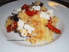 Cinco sentidos na cozinha: Couscous com requeijão e legumes caramelizados