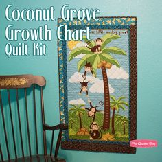 Coconut Grove Growth Chart Quilt Kit Featuring Coconut Grove by Bella Lu Studios - Fat Quarter Shop