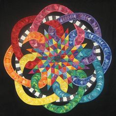 colour, rainbow, color, snake, curves, quilt