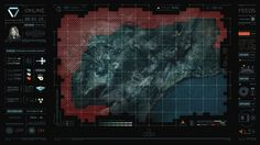 Image result for scifi ui map