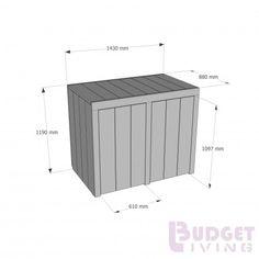 Steigerhouten Container ombouw de Helling 3, nieuw hout en lichtgrijze beits behandeld
