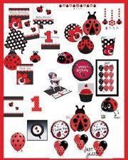Ladybug Fancy 1st Birthday Baby Shower Party Supply U Pick Plates Balloon Decor