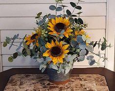 Rustic Flower Arrangements, Artificial Floral Arrangements, Fall Flower Arrangements, Rustic Flowers, Fake Flowers, Flower Centerpieces, Beautiful Flowers, Cemetery Decorations, Cemetery Flowers