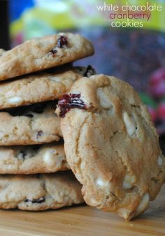 White Chocolate& Cranberry Cookies