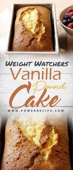 This simple vanilla pound cake comes together in three easy steps. Get the recipe for our easy, flavorful vanilla pound cake… Ingredients 1 spray(s) cooking large large egg whi… Ww Desserts, Healthy Desserts, Dessert Recipes, Light Desserts, Healthy Recipes, Plated Desserts, Healthy Options, Dessert Ideas, Weight Watchers Cake