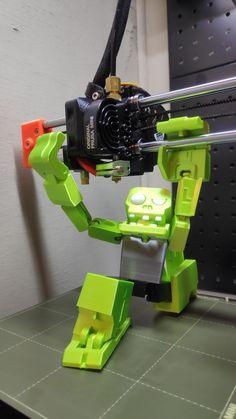 Green Monster pritned by FrenzyIncarnate on Original Prusa MINI #prusamini #toysandgames