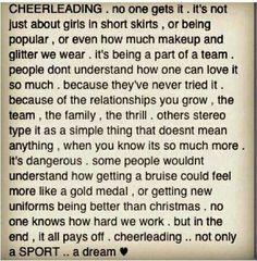 Cheerleading is a sportt.
