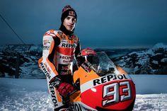 MotoGP - Vídeo: Marc Márquez com a Honda RC213V na neve