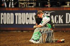 Bullriders, they've been praying like this long before Tebow was around