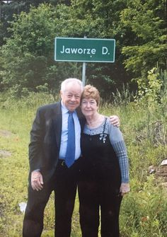Manek and Zosia Schonwetter ... they survived TOGETHER. This was taken in Poland, 2009, on the outskirts of the forest where they hid from German soldiers throughout World War 2.