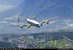 Lockheed C-121C Super Constellation N73544 4175 Inflight Airplane History, Cool Backdrops, Old Planes, Passenger Aircraft, Commercial Aircraft, Boeing 747, Train Car, Concorde, Aviation Art