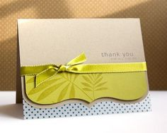 simple and beautiful thank you card