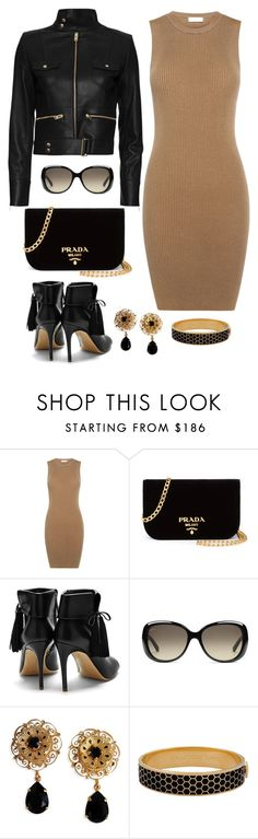 """Untitled #1140"" by gallant81 ❤ liked on Polyvore featuring A.L.C., Prada, Rupert Sanderson, Gucci, Dolce&Gabbana, Halcyon Days and IRO"