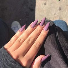 Once you have found the right combination, you can achieve great creativity with other shades of purple!  Purple nail art; Ombre, acrylic and nail decors are a popular color.  #purplenail #nailart #colorfulnail #artificalnail #almondnail