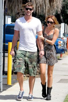 miley cyrus and liam hemsworth candids - Google Search
