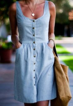 This is cute! I like the neckline and the shape and the material is pleasantly casual and appears not to be too stiff.