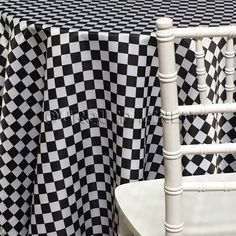 Lamour Print Tablecloth - Race Check 1x1
