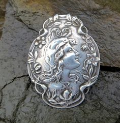 Antique Art Nouveau Sterling Silver by VintageVogueTreasure, $65.00