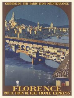 Giclee Print: Travel Poster For Florence by Found Image Press : 16x12in
