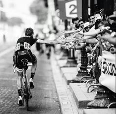 Jens Voigt in his last day of the last tour de france of his career