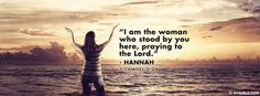 1 Samuel 1:26 NKJV - I Am The Woman Who Stood By You Here - Facebook Cover Photo