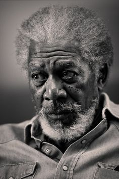 Actor  Morgan Freeman | by Annie Leibovitz, capturing his thoughts at that moment, making this a classic