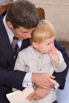 Kronprins Frederik havde prins Christian på skødet.