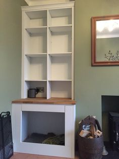 Bespoke Dog Bed Alcove Unit Alcove Shelving, Bed Shelves, Built In Dog Bed, Dog Nook, Glass Shower Enclosures, Gas Fireplace Logs, Glass Room, Dog Furniture, Have A Shower