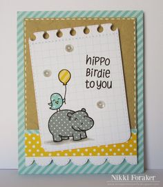 Scrappin' Navy Wife: Hippo Birdie To You