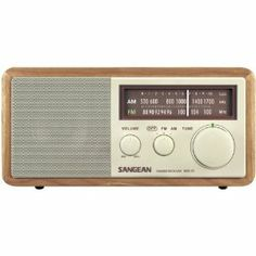 AWM Sangean Wr11 Wood Cabinet Am/Fm Table Top Radio - Radio/Cassette Players by AWM. $108.73. WOOD AM/FM TBL TOP RADIO