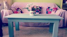 Mesa de centro con palets de madera