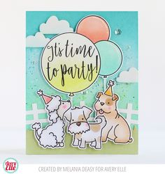Melania  has the most adorable project on the blog today. Isn't it amazing?! I love how she combined our More Furry Friends and Time To ...