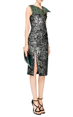 Zipper-Detail Jacquard Dress by Antonio Berardi | Moda Operandi