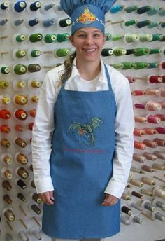 Apron pattern     Embroidery Library Projects - Machine Embroidery Designs Inspired Project Page