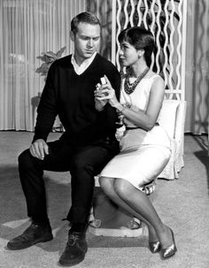 """Steve McQueen and then-wife Neile Adams in the """"Man from the South"""" episode of Alfred Hitchcock Presents, 1960 - Wikipedia, the free encyclopedia Gloria Steinem, Alfred Hitchcock, Classic Hollywood, In Hollywood, Hollywood Couples, Vintage Hollywood, Hollywood Glamour, Peter Lorre, Actor"""