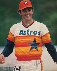 Nolan Ryan ...sporting the oh-so-legendary Astros uniform (which also claims a spot in My Hall of Fame...Just for different reasons than Nolan).  ;)