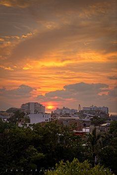 Sunset at Puerto Vallarta, Mexico