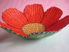 21 best paper mache flowers images on pinterest paper mache paper mache flower bowl by denise mon mightylinksfo