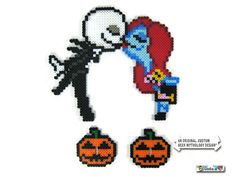 Nightmare Before Christmas Jack and Sally Pixel by GeeksatHeart