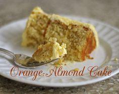 Orange Almond Cake with Grand Marnier Buttercream.