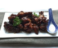 Kip Char Siu een recept wat ik al heel wat jaren maak. Lekker, makkelijk & verrassend! Kip Char Siu is heerlijk Aziatisch kip recept. Char Siu, Tandoori Chicken, Chicken Wings, Tapas, Crockpot, Main Dishes, Chicken Recipes, Beef, Ethnic Recipes