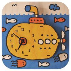 Popclox Submarine Kids Wall Clock Art Thingys Clock For Kids, Kids Clocks, Clock Craft, 3d Wall Clock, Wood Clocks, Quirky Gifts, Bathroom Kids, Kids Decor, Nursery Decor