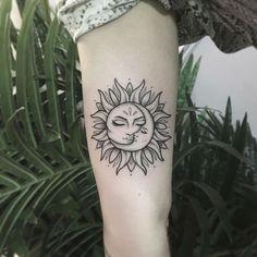25 Sun and Moon Tattoo Design Ideas - # Moon # Sun # Tattoo Declaration Ideas # Flower Tattoo. 25 Sun and Moon Tattoo Design Ideas - # Moon # Sun # Tattoo Declaration Ideas # Flower Tattoo # Diytattoo Images Mini Tattoos, Model Tattoos, Cute Tattoos, Beautiful Tattoos, Body Art Tattoos, Small Tattoos, Neck Tattoos, Pretty Tattoos, Awesome Tattoos