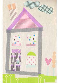 Washi Tape Artwork {cloudcuckoodesigns}